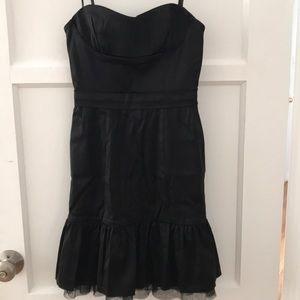 BCBG Black Strapless Mini Dress